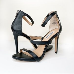 Steve Madden FEELYA Black Strappy Heels